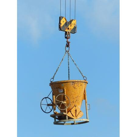 Canvas Print Last Crane Load Lifter Construction Work Stretched Canvas 10 x 14