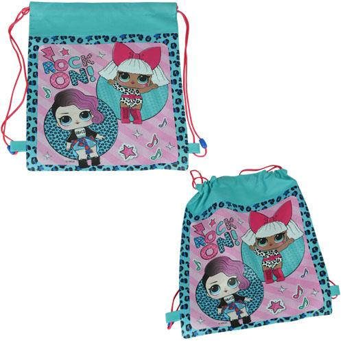 """LOL Surprise """"Eco Friendly"""" Non Woven Sling Bag Backpack with Hangtag"""