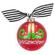 Coton Colors Santa's Little Helper Glass Ornament