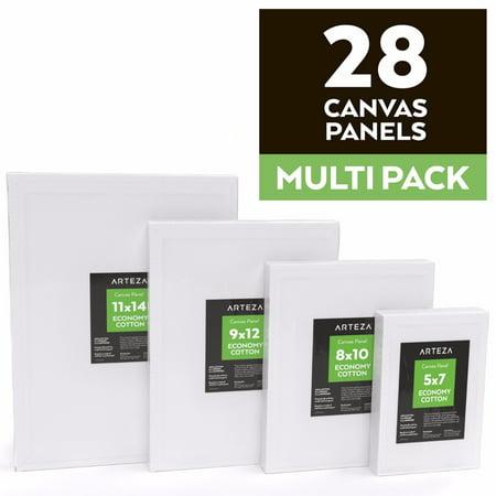 Arteza Canvas Panels Multi Pack  Set Of 28