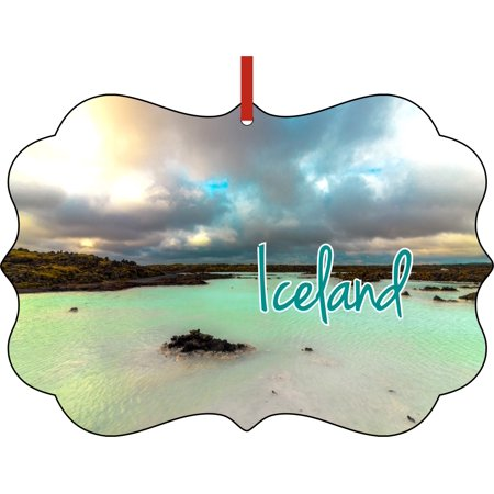 Christmas Ornaments Travel Iceland the Blue Lagoon Scenic Ornament Christmas Décor ()