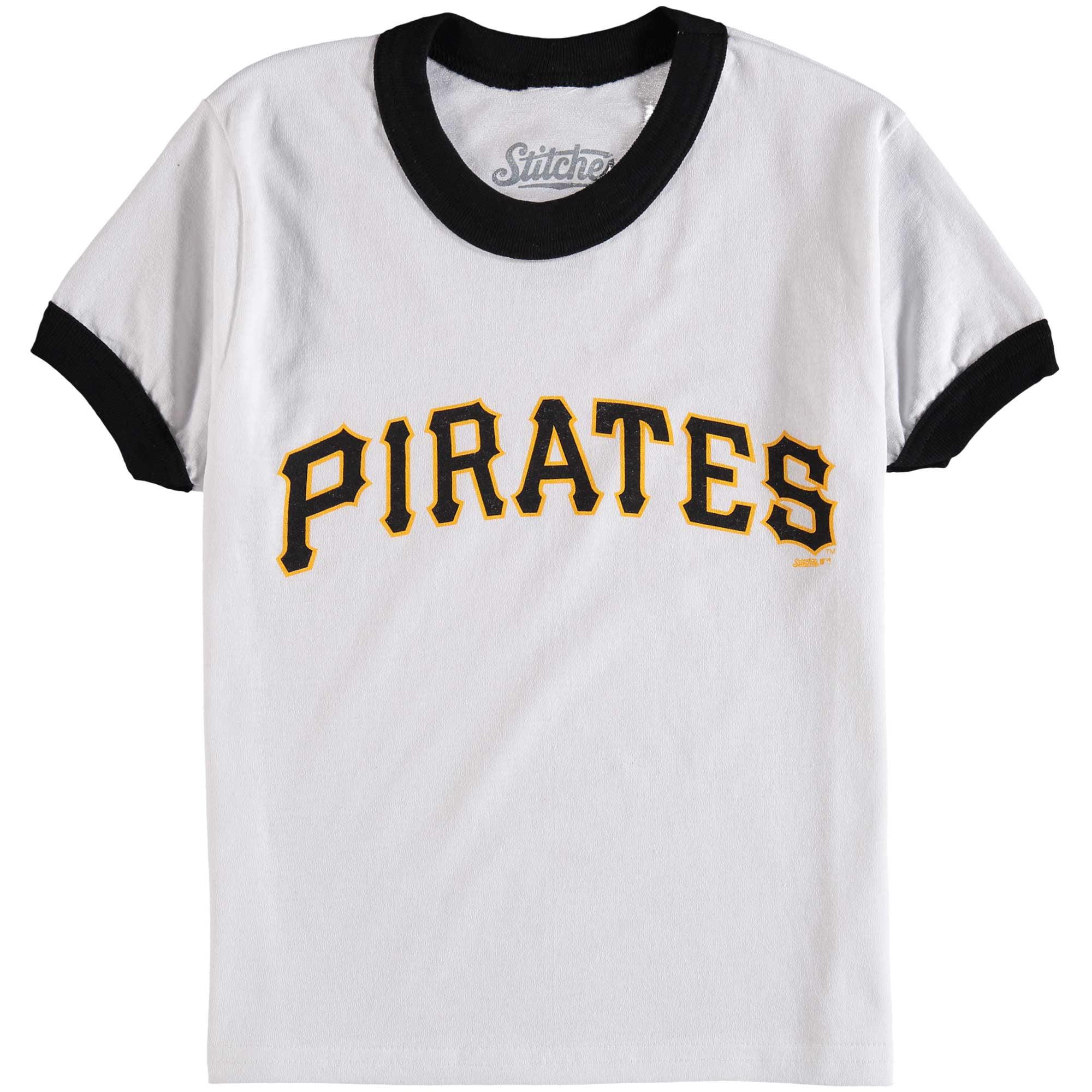 Pittsburgh Pirates Stitches Youth Ringer T-Shirt - White/Black