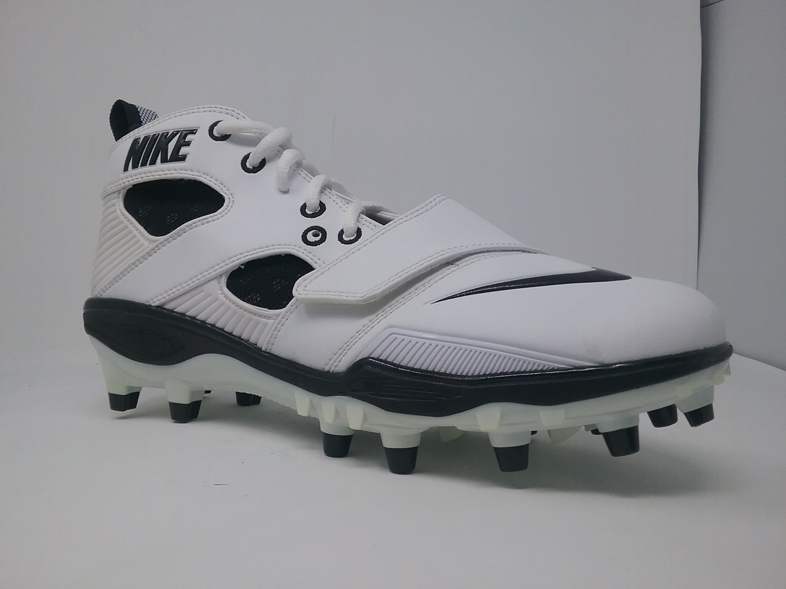 c765b6cb4 new zealand new nike zoom huarache ll 419116 101 mens 8 white black molded lacrosse  cleat