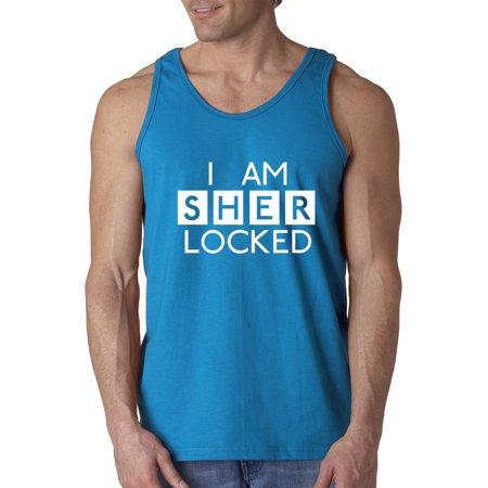 Trendy USA 892 - Men's Tank-Top I Am Sherlocked BBC Sherlock Holmes XL Sapphire