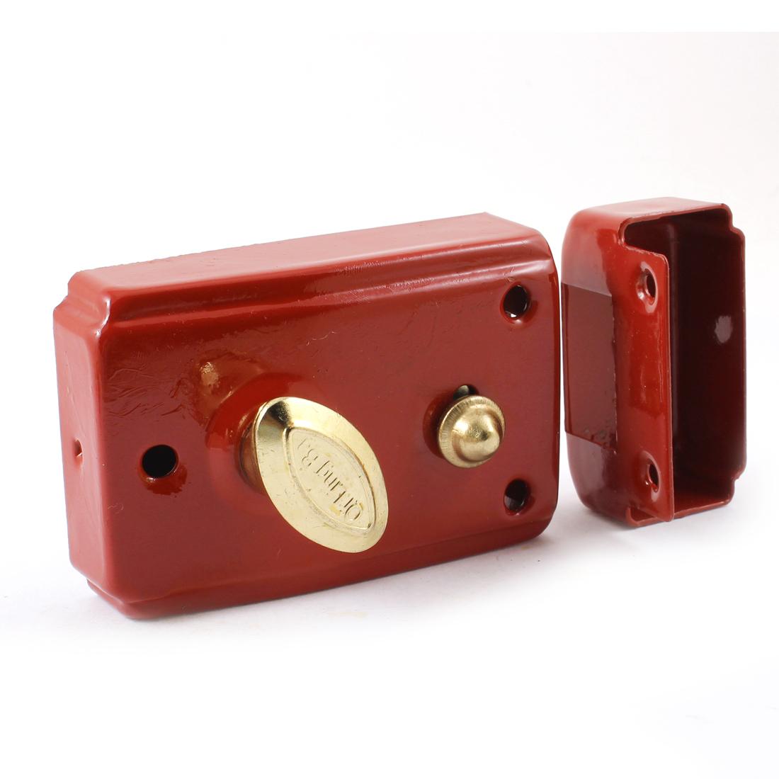 Dormitory Repairing Part Door Locks with keys Red Security Single Bolt Latch