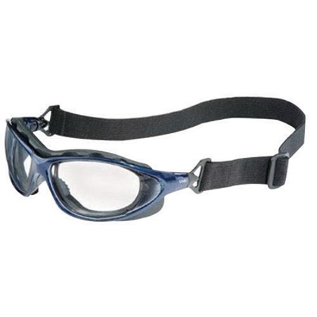 Uvex By Honeywell Seismic Sealed Safety Glasses With Metallic Blue Frame And Clear Polycarbonate Uvextra Anti-Fog