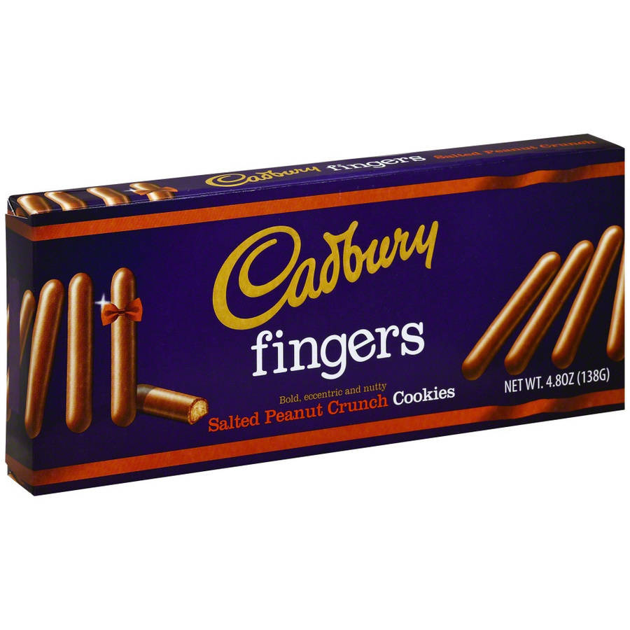Cadbury Fingers Salted Peanut Crunch Cookies, 4.8 oz, (Pack of 12)