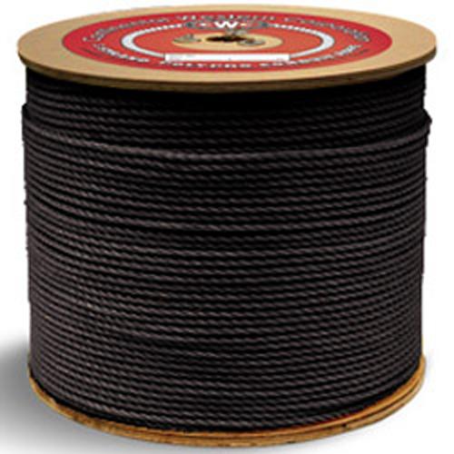 "CWC 3-Strand Polypropylene Rope - 3/8"" x 600 ft., Black"