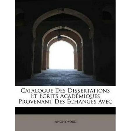 Catalogue Des Dissertations Et Crits Acad Miques Provenant Des Changes Avec - image 1 of 1