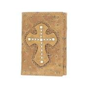 Nocona Western Wallet Mens Trifold Ostrich Cross Whiskey N5460402