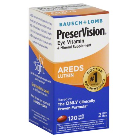 Preservision Areds Lutein Eye Vitamin   Mineral Supplement  Beta Carotene Free  Soft Gels  120 Ct