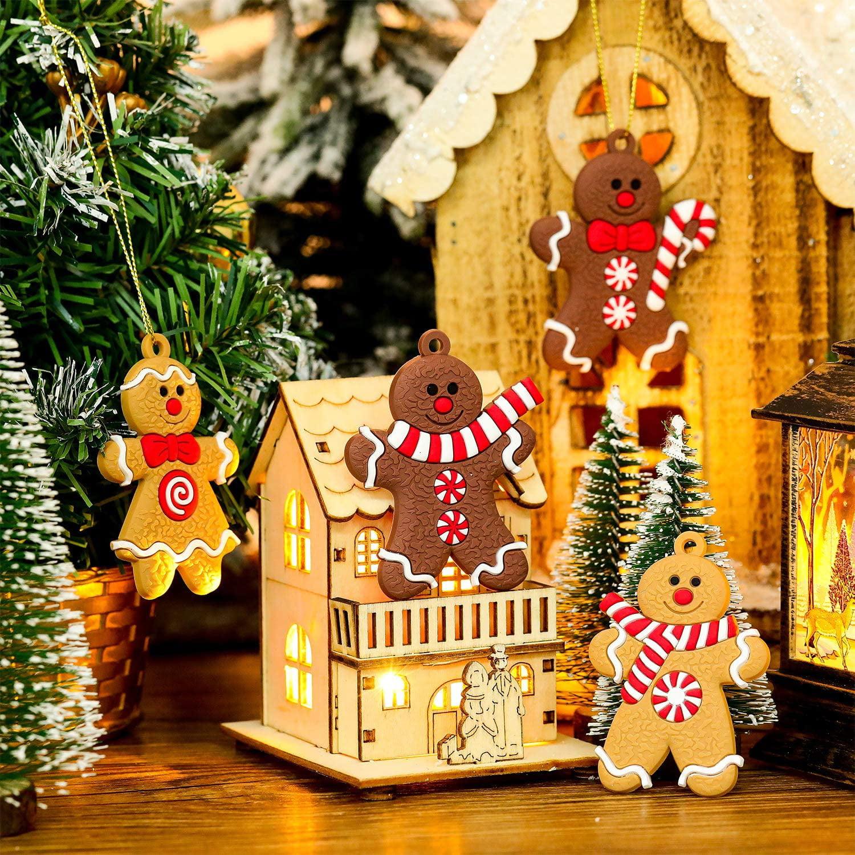 New Pvc Pendant Christmas Decoration Xmas Gingerbread Man Gingerbread Shape W