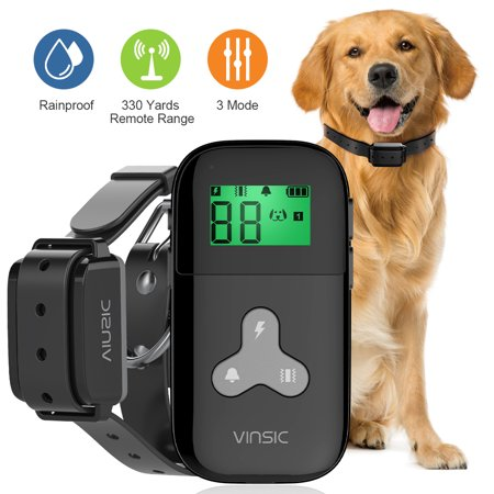 Dog Training Collar,Waterproof Dog Shock Collar,1000 ft Remote Range Anti Barking Training Collar for Dog,USB Rechargeable Dog Bark Collar for Small Medium Large Dogs With LCD