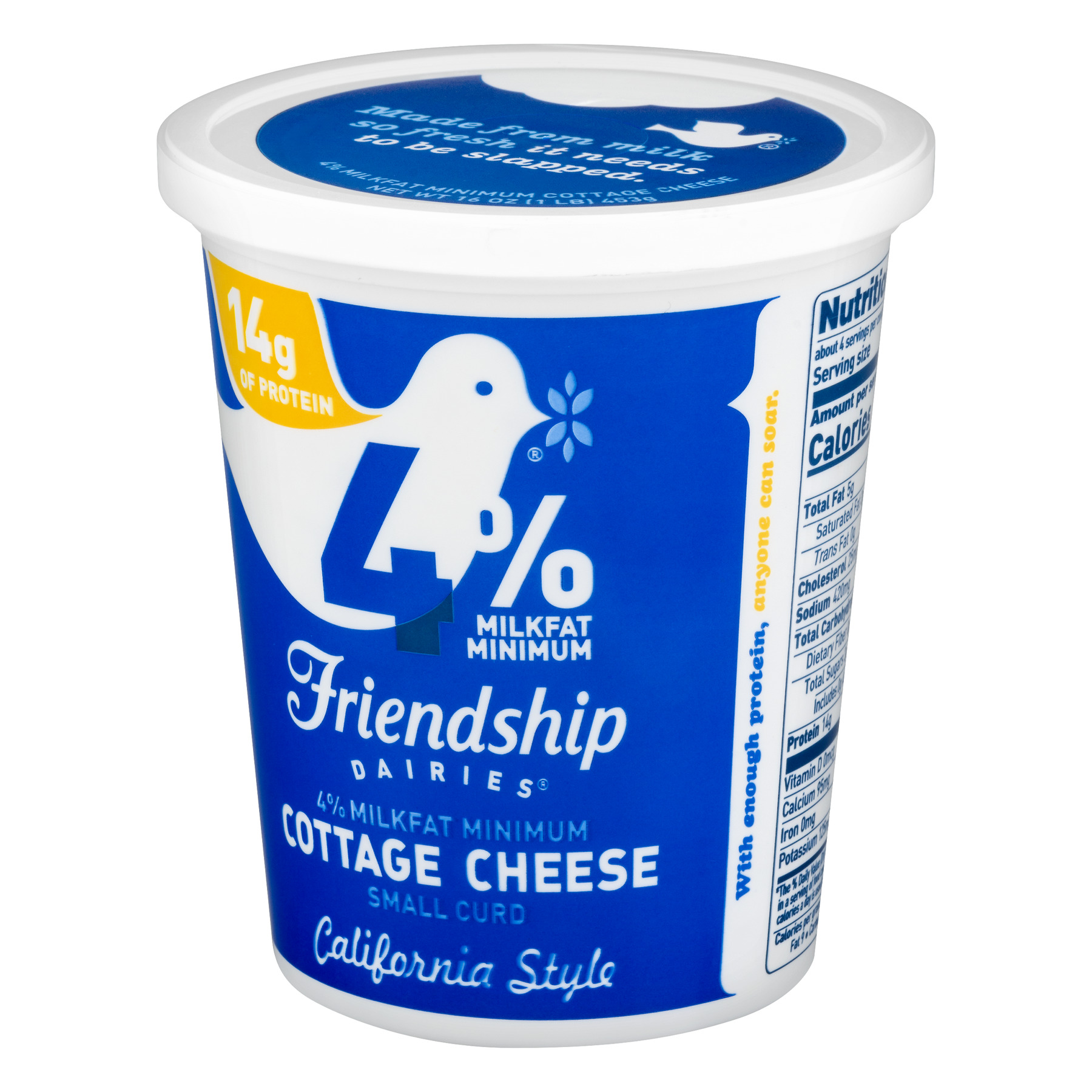 Astounding Friendship Dairies 4 Milk Fat Cottage Cheese Small Curd Home Interior And Landscaping Fragforummapetitesourisinfo