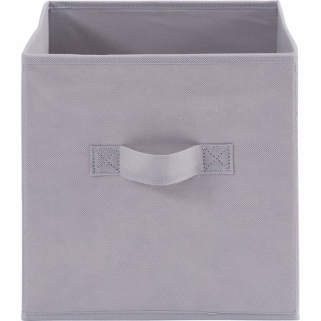 Mainstays Collapsible Storage Bin, Soft Silver