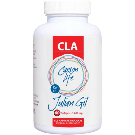 Carson Life by Julian Gil CLA 1000mg, Appetite Suppressant & Fat Burning Weight Loss Pills, Softgels, 60