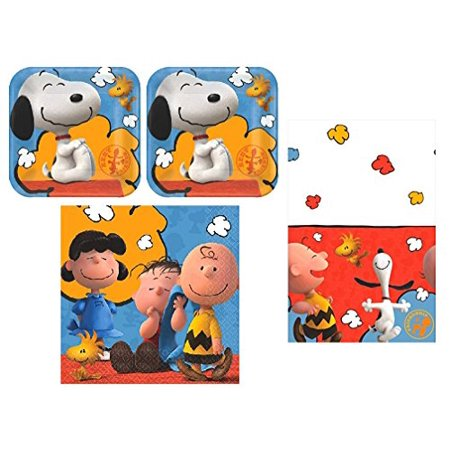 Peanuts Charlie Brown and Snoopy Party Pack for 16 Guests - Charlie Brown Halloween Birthday Party