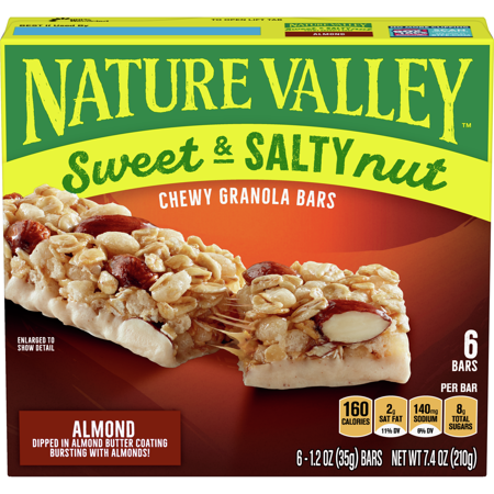 Nature Valley Sweet & Salty Nut Chewy Granola Bars, Almond, 6 Ct, 7.4 Oz Nut Chewy Granola Bar