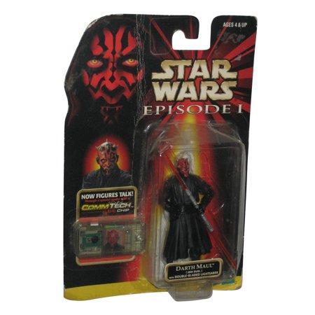 Star Wars Darth Maul Jedi Duel Talking Figure w/ Double Bladed - Darth Maul Double Bladed Lightsaber