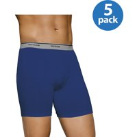 5-Pack Fruit of the Loom Mens Assorted Color Boxer Briefs