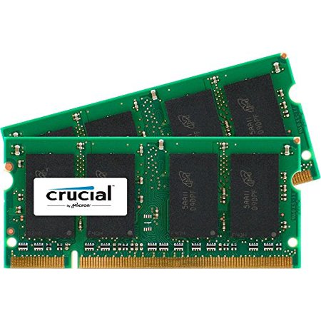 Crucial 2GB Kit (1GBx2) DDR2 667MHz (PC2-5300) CL5 SODIMM 200-Pin Notebook Memory Modules CT2KIT12864AC667 667mhz Ddr2 Sodimm Memory Module
