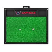 NHL Washington Capitals Golf Hitting Mat Golf Practice Accessory
