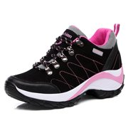 Black Women Outdoor Climbing Shoe Breathable Hiking Shoes Antiskid Travel Wearable Sport Shoes Lightweight Jogging Shoe For Female