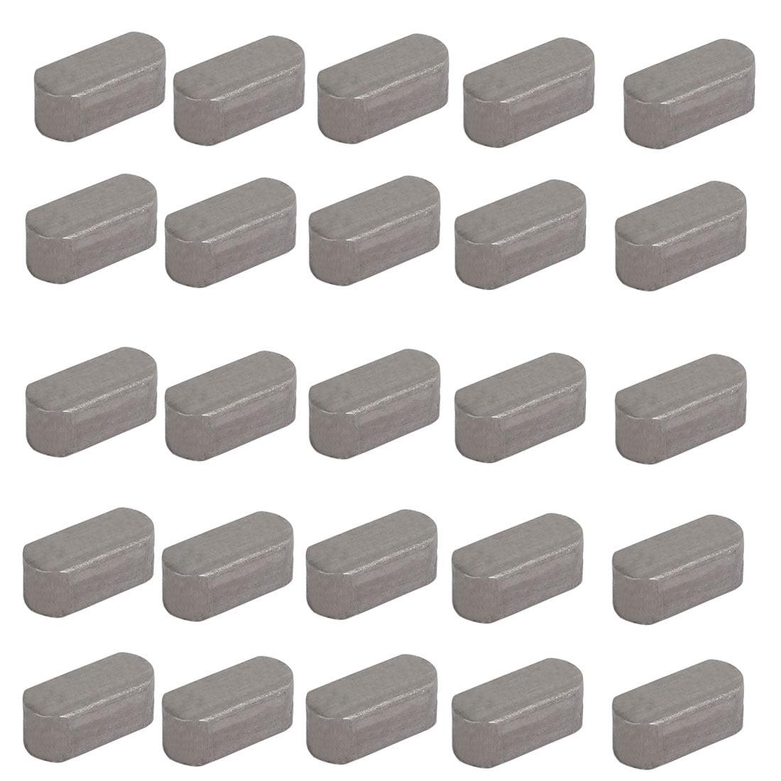 Unique Bargains 18mmx8mmx7mm Carbon Steel Key Stock To Lock Pulleys 25pcs - image 2 de 3