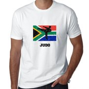 South Africa Olympic - Judo - Flag - Silhouette Men's T-Shirt