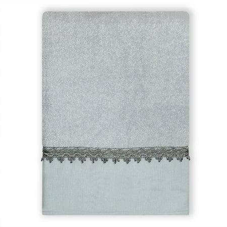 Zenna Home India Ink Alexa Bath Towel Blue Gray