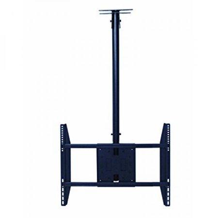 rocelco lcm large flat panel tv ceiling mount for 32 55 inch black. Black Bedroom Furniture Sets. Home Design Ideas