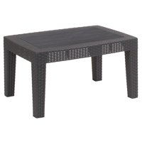 Flash Furniture Dark Gray Faux Rattan Coffee Table