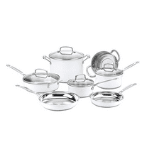 Cuisinart Chef's Classic Stainless Color Series 11 Piece Cookware Set