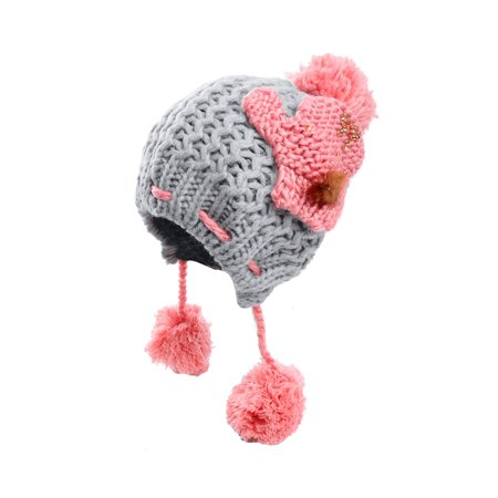 Block Winter Warm Casual Knitting Cap Hat for Ladies ()