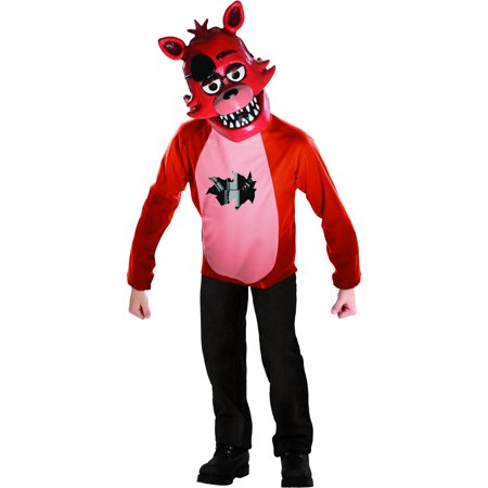 Five Nights at Freddys Deluxe Foxy Kids Costume Set (Kids S (5 Nights At Freddy's Costume For Sale)