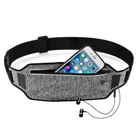 Running Waist Pack, EpicGadget(TM) Lightweight Water Resistant Reflective Runner Belt Sports Fanny Pack Adjustable Waistband (Black)