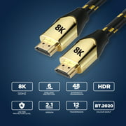 The Bigly Brothers HDMI Cable 2.1v support 1080P up to 8K UHD works for xbox360, ps4, ps5, new xbox and All High Definition T.V - 1 pack