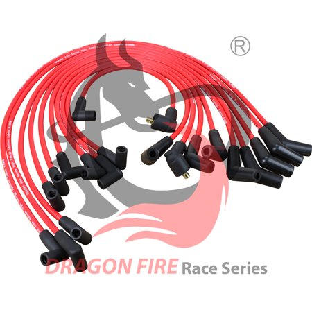 (Brand New 10mm Hei Spark Plug Wire Set For 1979-1991 Ford SBF 221 260 289 302 351W 45 To 90 Oem Fit PWJ103)