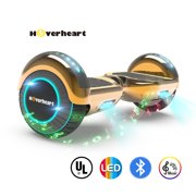 """UL 2272 Listed 6.5"""" Hoverboard TOP LED Two-Wheel Self Balancing Scooter with Speaker  New Chrome Rosegold"""