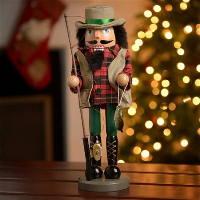 SantasWorkshop 70201 4.5 in. Bass Fisherman Nutcracker
