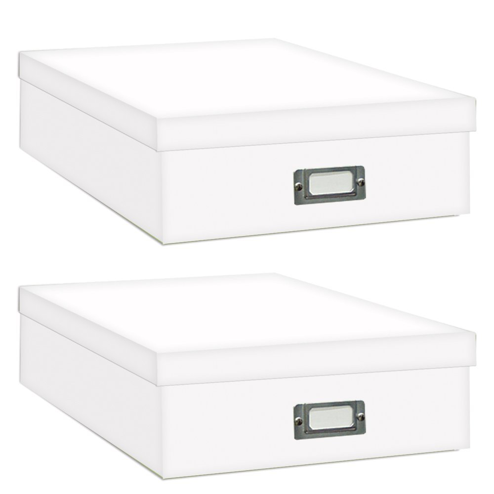 Superieur Pioneer Jumbo Scrapbook Storage Box, Crafters White, 14 3/4