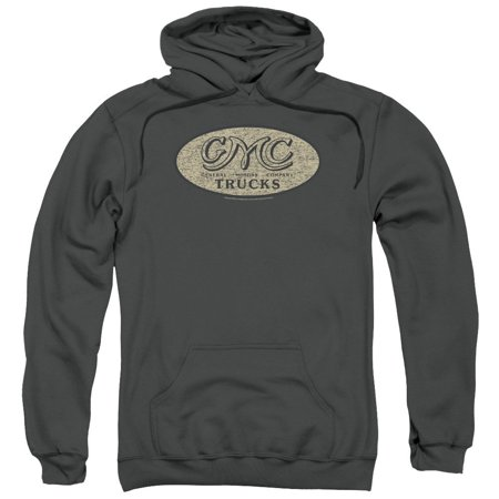 Gmc - Vintage Oval Logo Adult Pull-Over Hoodie - Adult Pull-Over Hoodie / S / Gray