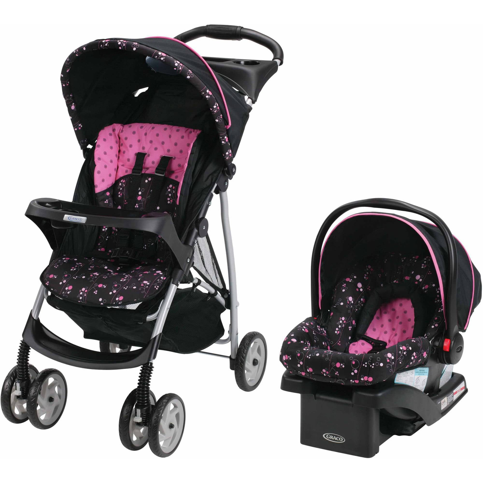 Black And Pink Travel System Strollers Strollers 2017