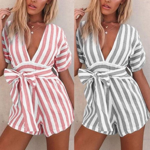 1c3f1f98af02 Emmababy - Fashion Women Sexy Boho Playsuit Jumpsuit Rompers Summer Beach  Casual Mini Shorts Dress - Walmart.com