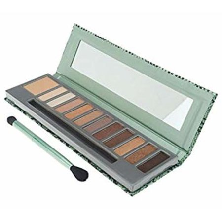 Mally Beauty 11 Piece Eye Shadow Palette w/ Eye Base and Brush, In The (First Base Soothing Eye Shadow Base)