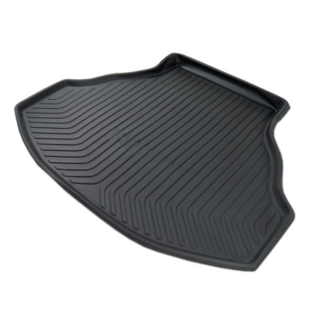TuningPros CLTM-825 Custom Fit Black Trunk Floor Mat For 2008-2012 Honda Accord 4 Door Sedan - 1 pcs Set Cargo Liner Honda Accord 08 09 10 11 12 (Custom Trunk Mat)