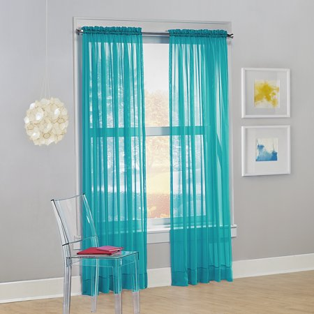 No. 918 Siren Voile Sheer Rod Pocket Single Curtain Panel