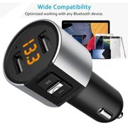 Wireless In-Car Bluetooth FM Transmitter MP3 Radio Adapter Car Kit USB Car Charger