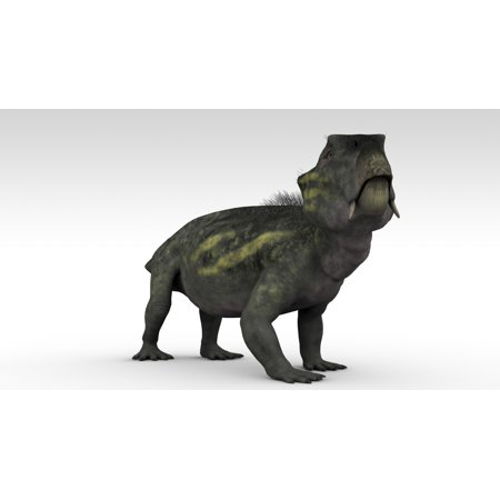 Lystrosaurus A Therapsid From The Permian And Triassic Period Canvas Art   Kostyantyn Ivanyshenstocktrek Images  38 X 22