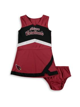 977cdda747a Product Image Arizona Cardinals Girls Toddler Cheer Captain Jumper Dress -  Cardinal/Black - 2T